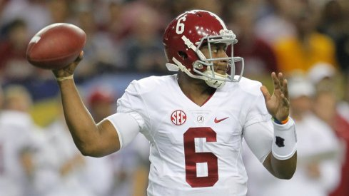 Blake Sims set Alabama's school record with 3,250 yards passing.