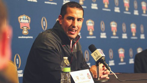 Ohio State co-defensive coordinator Luke Fickell at Sugar Bowl media day.