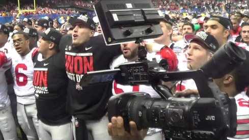 Ohio State's Sugar Bowl celebration and the most triumphant rendition Carmen Ohio you've seen this season.