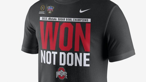 These Nike Ohio State Won Not Done shirts are hot, hot.