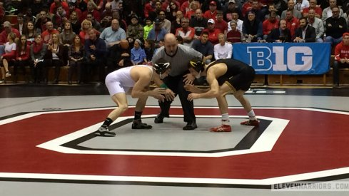 Ohio State's Nathan Tomasello in the Iowa dual meet.