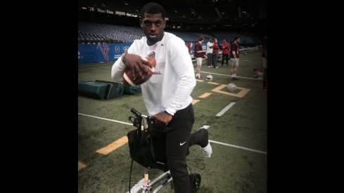 Ohio State quarterback J.T. Barrett has taken a real liking to his scooter.