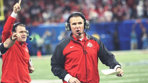 Urban Meyer on the sideline of the Sugar Bowl