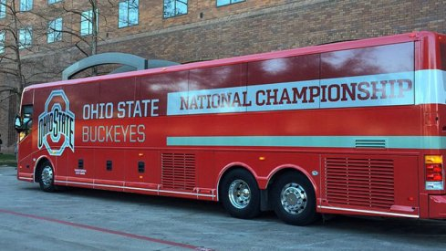 Ohio State's team bus for the national championship game in Dallas