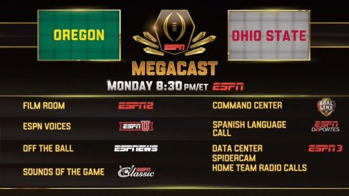 ESPN will saturate programming for its National Championship Megacast Monday night.