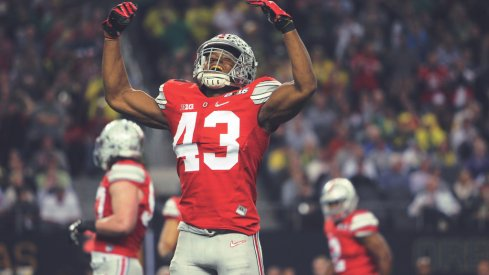 Darron Lee, excited.