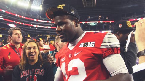 Cardale Jones celebrates the title.