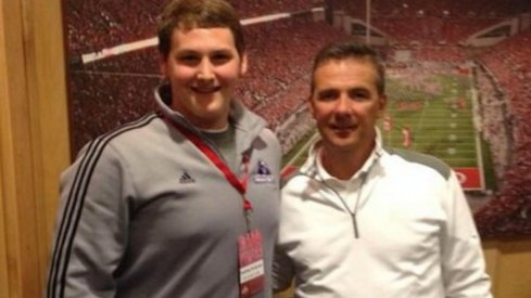 Tommy Kraemer on a visit to Ohio State last spring.