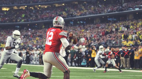 Cardale Jones found himself in the wrong end zone early on