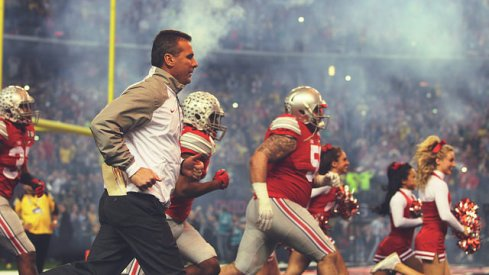 Urban Meyer and the Buckeyes take the field in the National Championship Game.