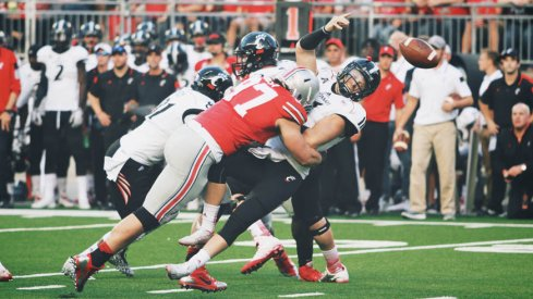Joey Bosa crushes Gunner Kiel, turns the tide of the game.