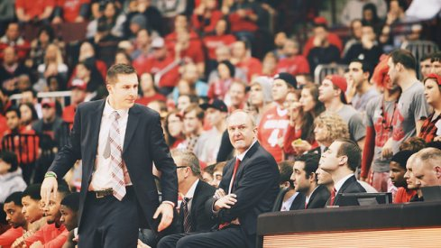 Thad Matta watches Ohio State from the bench.