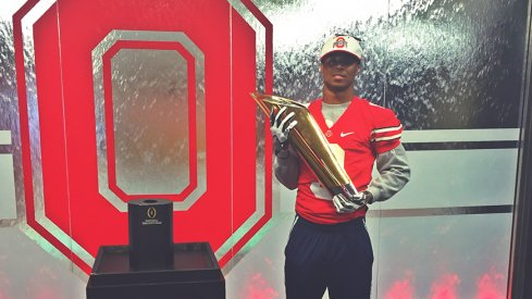 Newest Buckeye commit, Damon Arnette, during his official visit to Ohio State last weekend