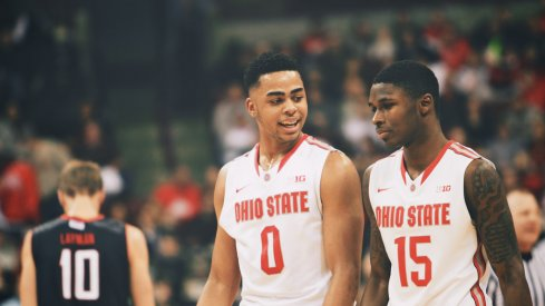 D'Angelo Russell and Kam Williams share a laugh.
