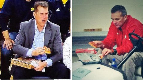 Urban Meyer and Jim Harbaugh are fans of pizza. Who isn't?