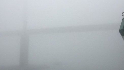 Fog from the deck of the Buckeye Cruise for Cancer