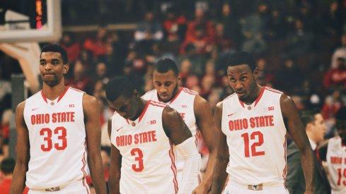Ohio State walks off the floor.