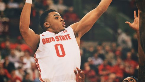 D'Angelo Russell scores inside earlier this year.