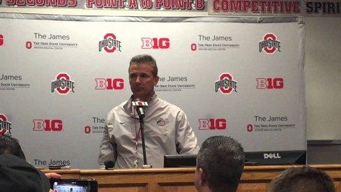 Urban Meyer addresses the media.