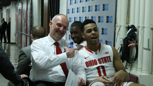 Thad Matta, Shannon Scott and D'Angelo Russell take a ride.
