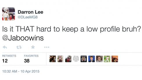 Darron Lee has questions.