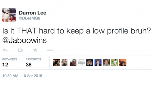 Darron Lee has questions.