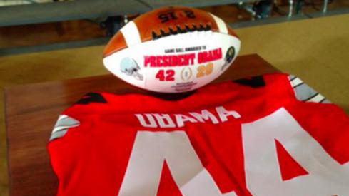 President Obama's OSU jersey