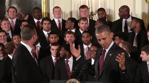 Joey Bosa and President Barack Obama share a ¯\_(ツ)_/¯