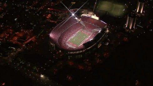 Ohio Stadium under the lights.