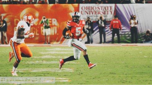 Braxton Miller is good at football.