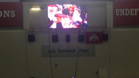 Ohio State inside video board
