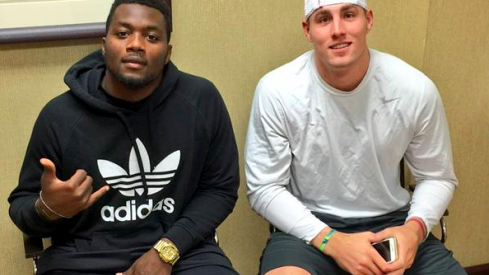 Dante Fowler, left, and Jeff Heuerman, right.