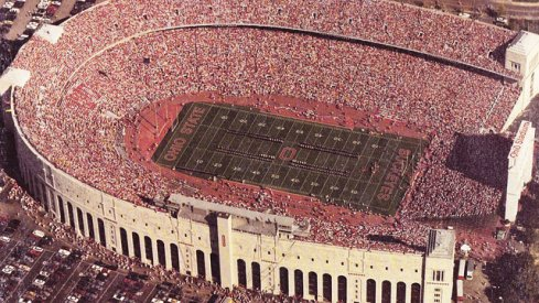 Ohio Stadium in 1991, with room to expand.