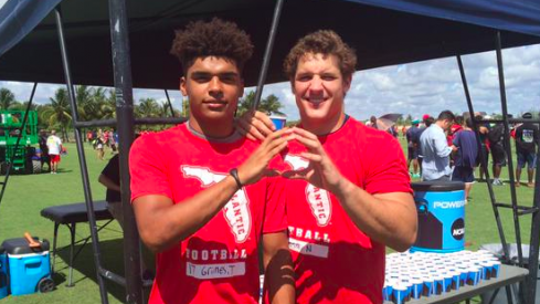 Trevon Grimes and Nick Bosa