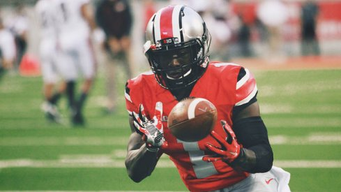 Johnnie Dixon putting in work before the Virginia Tech game.