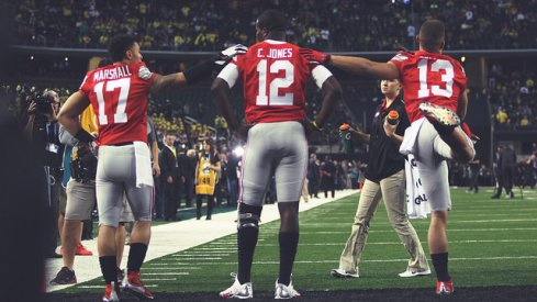Ohio State's championship game QB roster.