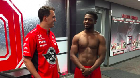 Graham Rahal (left) and J.T. Barrett (right).