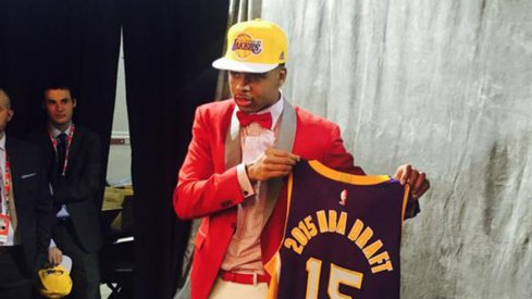 D'Angelo Russell went No. 2 to the Los Angeles Lakers in the 2015 NBA Draft