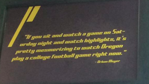 Urban Meyer quoted at Oregon