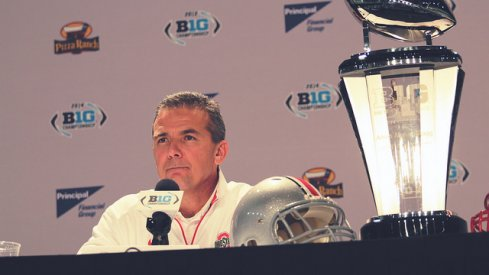 Urban Meyer before the 2014 Big Ten title game.
