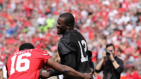 Cardale Jones and J.T. Barrett at the Spring Game.