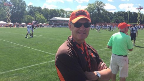 Jim Tressel at the Cleveland Browns camp