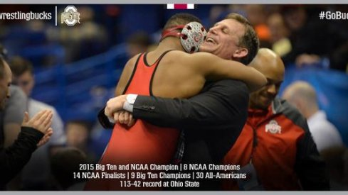 Tom Ryan celebrates the title