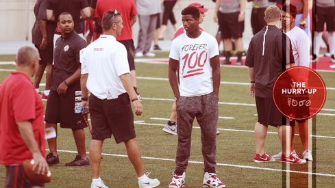 Donnie Corley and Urban Meyer at Friday Night Lights