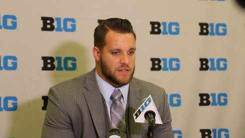 Taylor Decker at Big Ten Media Days.