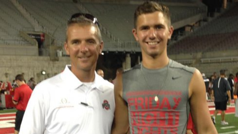 Urban Meyer and his future kicker at Friday Night Lights