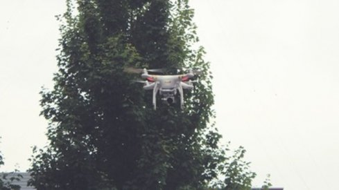 The drone apparently following Braxton Miller around.