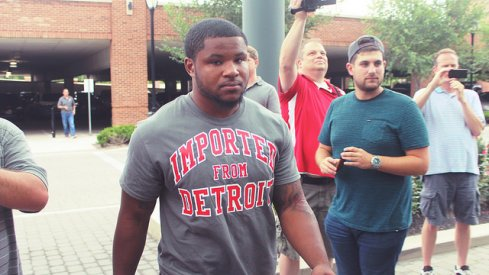 Mike Weber at Camp Check-in