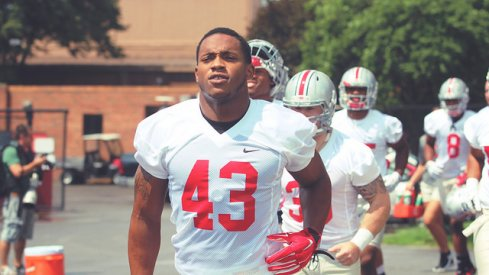 Darron Lee takes the practice field.