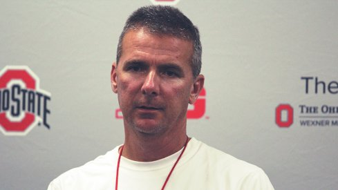 Urban Meyer discusses the first day of practice with the media at Ohio State.